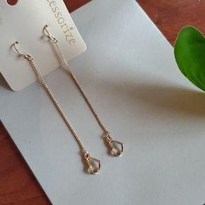 2 for $20 // Accesssorize Heart Drop Earrings